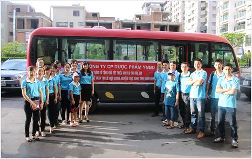 YNNO Pharma - chương trình từ thiện 1/6/2014 tại Nam Định